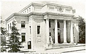 Municipal Building Reidsville NC Postcard p4395 (Image1)