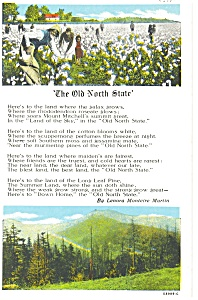 Old North State Poem, K.T. Postcard (Image1)
