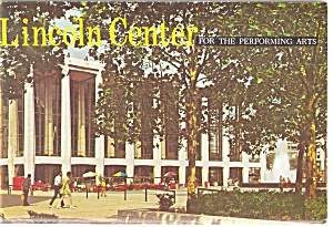 Lincoln Center Souvenir Folder Postcard