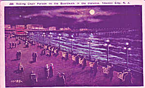 Atlantic City New Jersey Rolling Chair Parade Postcard P41344 (Image1)