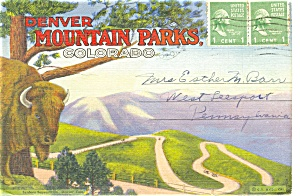 Denver Mountain Parks Souvenir Folder