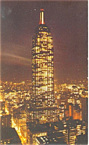 Empire State Building New York City Postcard p4432 (Image1)