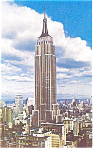 Empire State Building New York Postcard p4434 (Image1)