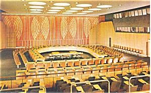 United Nations Economic Chamber New York City Postcard p4442 (Image1)