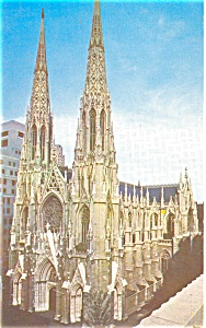 St Patrick s Cathedral NYC Postcard p4445 (Image1)