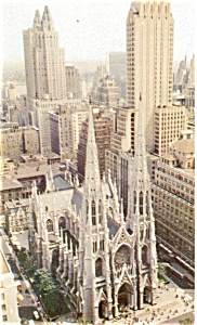 St Patrick s Cathedral New York City Postcard p4446 (Image1)