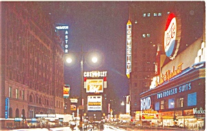 Times Square at Night New York City Postcard p4456 (Image1)