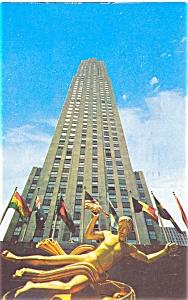 RCA Building New York City Postcard p4457 (Image1)