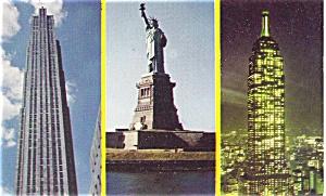 New York City Landmarks Postcard p4460 (Image1)