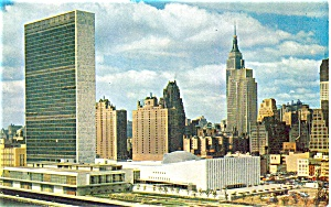 United Nations New York City Postcard p4463 (Image1)