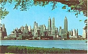 Lower Manhattan New York City Postcard p4465 (Image1)