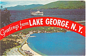Lake George NY Postcard p4467 (Image1)