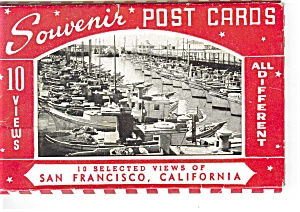 San Francisco Souvenir Folder Postcards (Image1)