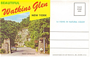 Beautiful Watkins Glen Ny Souvenir Folder
