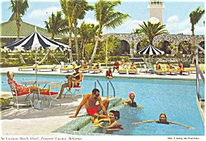 Lucayan Beach Hotel Bahamas Postcard p4533 (Image1)