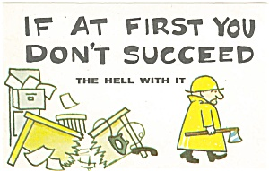 If at First Comical   Postcard p4588 (Image1)