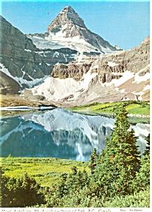Mt Assiniboine British Columbia Canada Postcard p4601 (Image1)