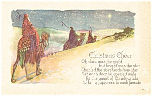 Vintage Christmas Cheer Postcard (Image1)