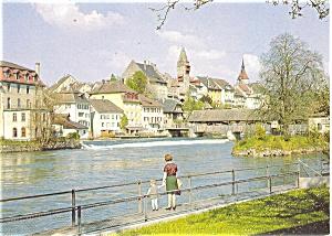 Bremgarten Switzerland. Postcard p4652 (Image1)