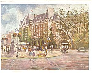 Empress Hotel, Victoria B.C. Postcard p4654 (Image1)