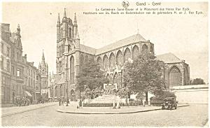 Cathedral Saint Bavon  Gent  Belgium Postcard p4669 (Image1)