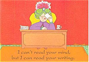 Swami I Can't Read Your Mind Postcard P4693