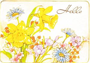Spring Flowers  Postcard p4700 (Image1)