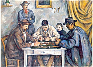 Cezanne Artwork The Card Players Postcard P4709