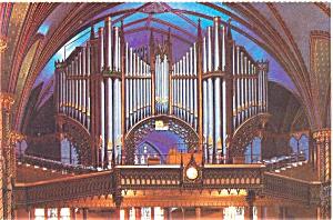Montreal Notre Dame Organ  Postcard p4734 (Image1)