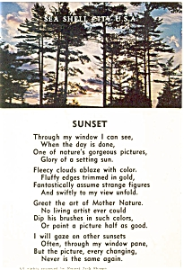 Sunset Poem  Postcard (Image1)