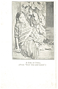 A Girl of India  Postcard 1912 (Image1)
