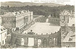 Nancy France Government s Palace  Postcard p4772 (Image1)