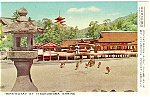 Itsukushima Shrine Japan Postcard p4791 (Image1)