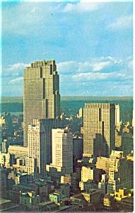 Rockerfeller Center Buildings New York City Postcard p4836 (Image1)