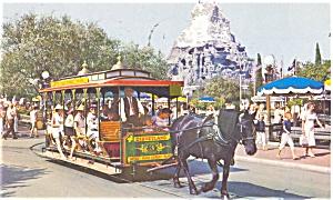 Disneyland Horse Trolley  Postcard p4839 (Image1)