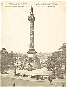 Brussels Belgium Congress Column Postcard p4889 (Image1)