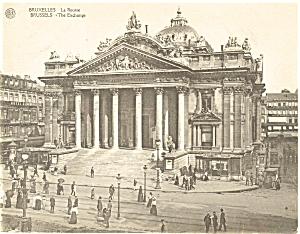 Brussels Belgium The Exchange Postcard p4893 (Image1)