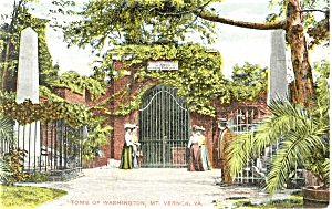 Mt Vernon VA Washington's Tomb Postcard (Image1)