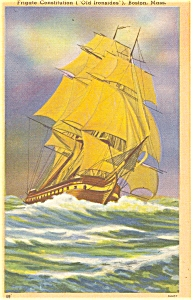 Frigate Consitution Old Ironsides Postcard p4942 (Image1)
