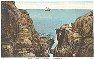 Rafe S Chasm Gloucester Ma Postcard P4948