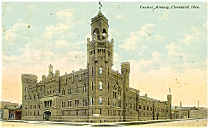 Cleveland OH Central Armory Postcard 1911 (Image1)