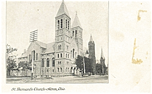 Akron OH St. Bernard s Church Postcard p4971 (Image1)