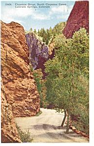 Cheyenne Canyon Colorado Springs CO Postcard p5004 (Image1)