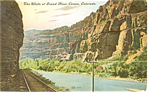 Grand River Canyon Colorado Postcard p5014 (Image1)