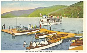Lake Placid NY Doris Landing  Postcard p5034 (Image1)