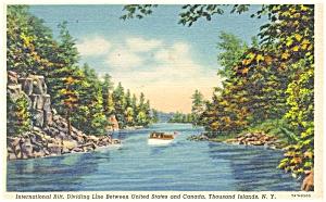 Thousand Islands of New York  Postcard p5038 (Image1)