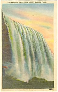 American Falls Niagara Falls NY Linen Postcard p5062 (Image1)