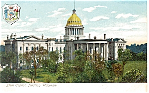 Madison WI State Capitol  Postcard (Image1)