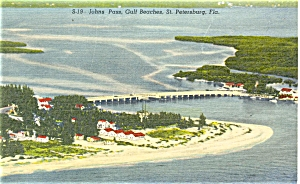 John S Pass St Pete Florida Postcard P5100
