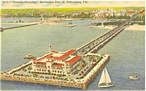 Recreation Pier St Pete Florida Postcard p5103 (Image1)